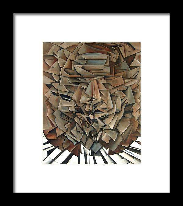 Jazz Piano Thelonious Monk Framed Print featuring the painting Epistrophy by Martel Chapman