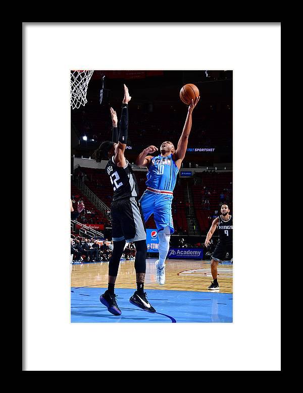 Nba Pro Basketball Framed Print featuring the photograph Eric Gordon by Cato Cataldo