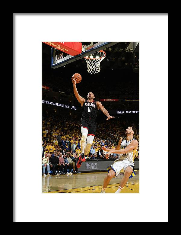 Playoffs Framed Print featuring the photograph Eric Gordon by Noah Graham