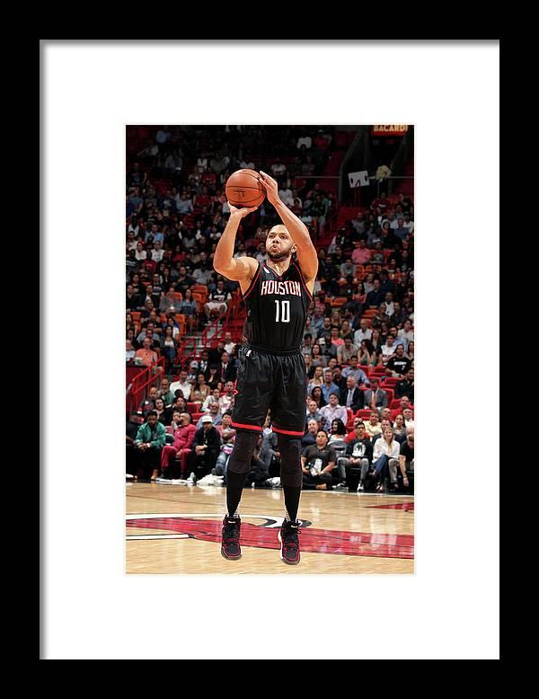 Nba Pro Basketball Framed Print featuring the photograph Eric Gordon by Oscar Baldizon