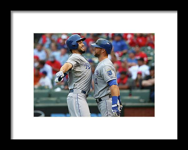 Second Inning Framed Print featuring the photograph Eric Hosmer and Alex Gordon by Ronald Martinez