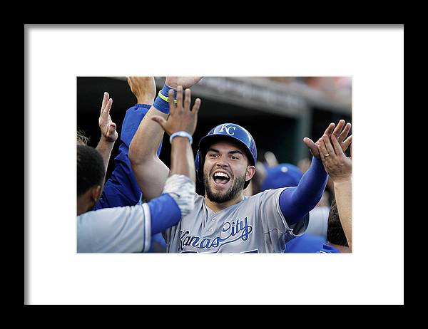 American League Baseball Framed Print featuring the photograph Eric Hosmer and Billy Butler by Duane Burleson