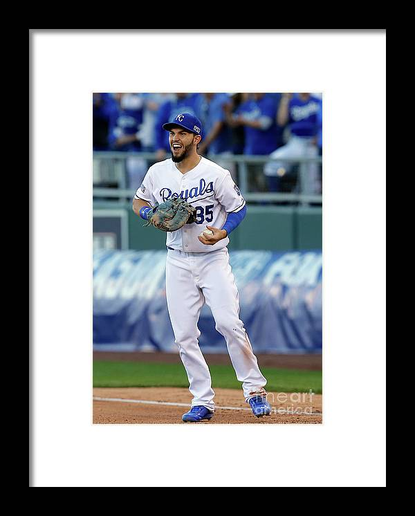 People Framed Print featuring the photograph Eric Hosmer and Kelly Johnson by Ed Zurga