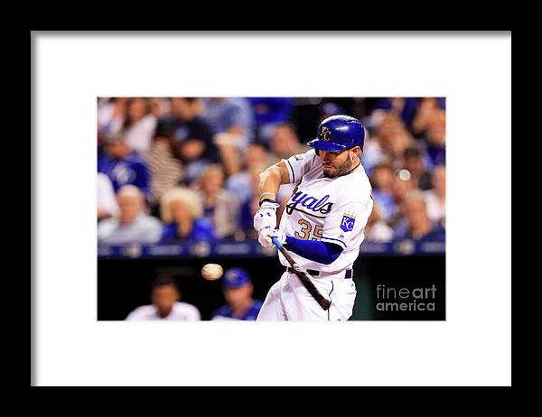 Three Quarter Length Framed Print featuring the photograph Eric Hosmer by Brian Davidson