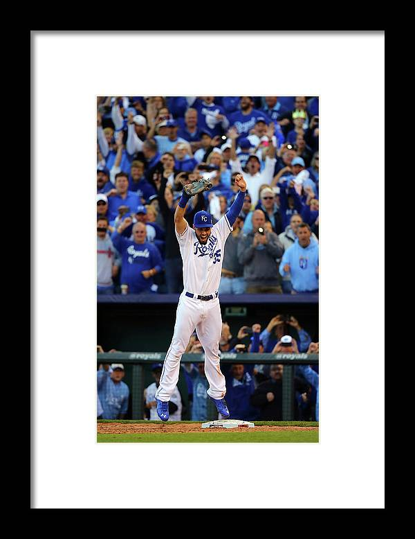 American League Baseball Framed Print featuring the photograph Eric Hosmer by Dilip Vishwanat