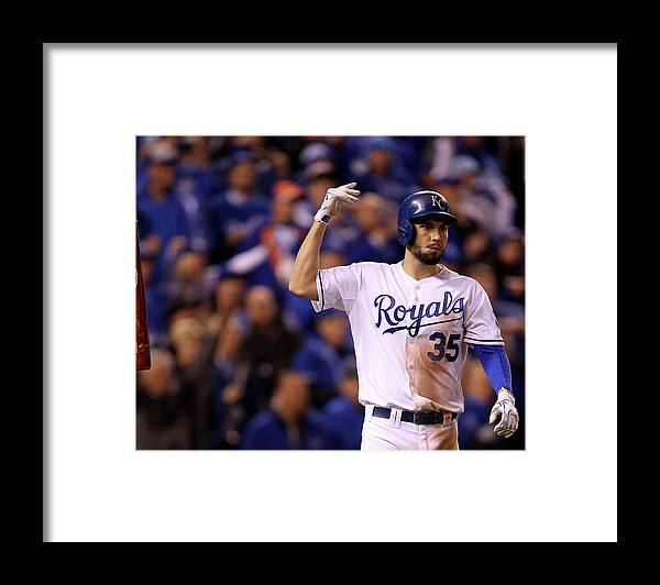People Framed Print featuring the photograph Eric Hosmer by Doug Pensinger