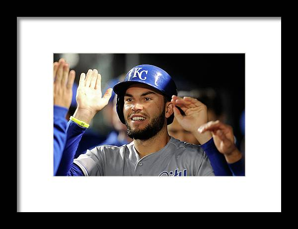 American League Baseball Framed Print featuring the photograph Eric Hosmer by Greg Fiume