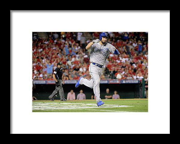 Game Two Framed Print featuring the photograph Eric Hosmer by Harry How