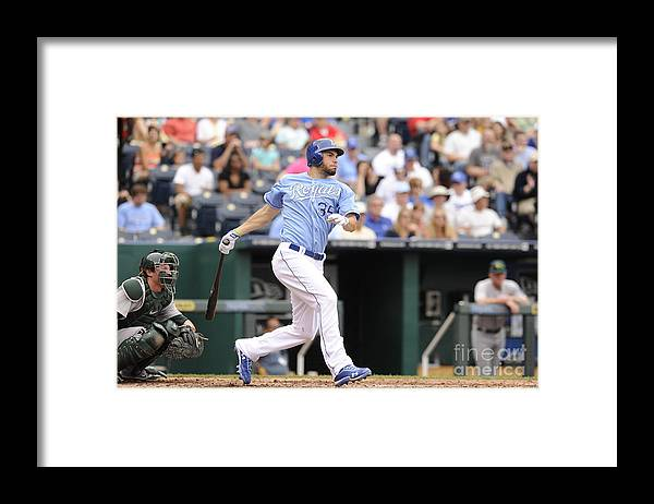 American League Baseball Framed Print featuring the photograph Eric Hosmer by John Williamson