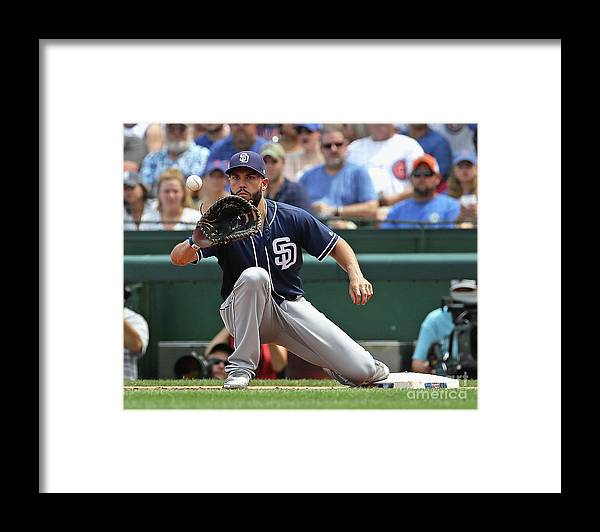 People Framed Print featuring the photograph Eric Hosmer by Jonathan Daniel