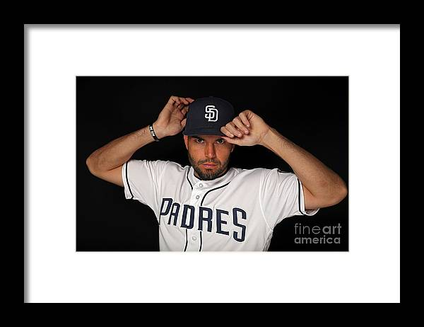 Media Day Framed Print featuring the photograph Eric Hosmer by Patrick Smith