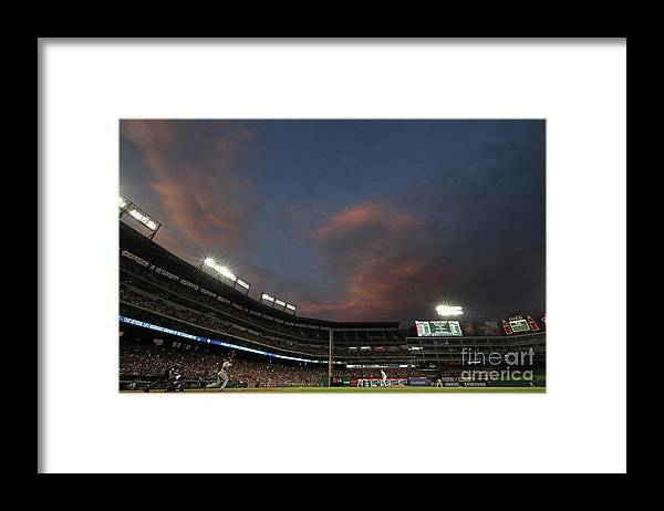 People Framed Print featuring the photograph Eric Hosmer by Ronald Martinez