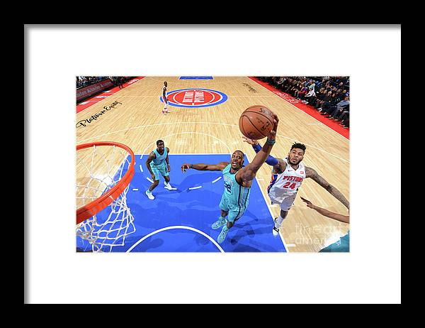 Nba Pro Basketball Framed Print featuring the photograph Eric Moreland and Dwight Howard by Jesse D. Garrabrant