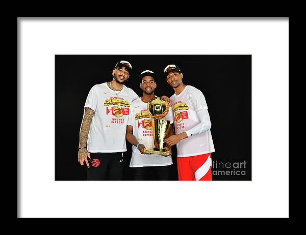 Playoffs Framed Print featuring the photograph Eric Moreland and Malcolm Miller by Jesse D. Garrabrant