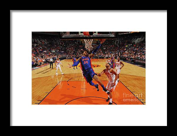 Sports Ball Framed Print featuring the photograph Eric Moreland by Barry Gossage