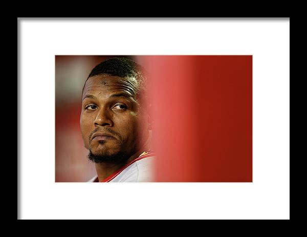 People Framed Print featuring the photograph Erick Aybar by Christian Petersen