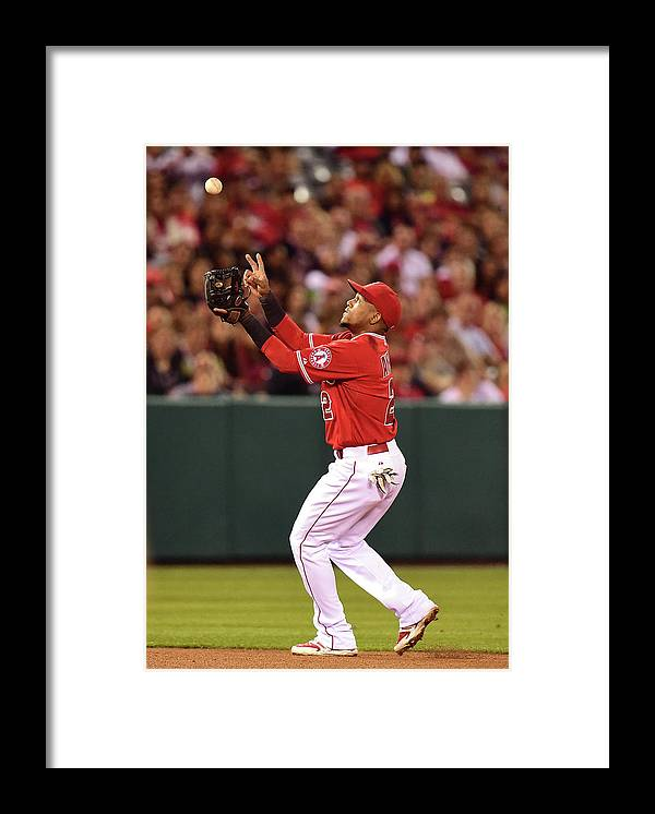 People Framed Print featuring the photograph Erick Aybar by Harry How