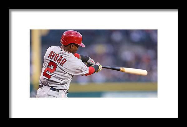 American League Baseball Framed Print featuring the photograph Erick Aybar by Leon Halip