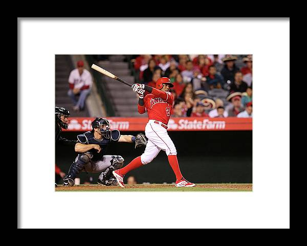 People Framed Print featuring the photograph Erick Aybar by Stephen Dunn