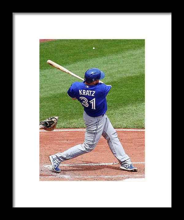 Professional Sport Framed Print featuring the photograph Erik Kratz by Justin K. Aller