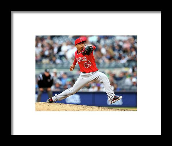 American League Baseball Framed Print featuring the photograph Ernesto Frieri by Elsa