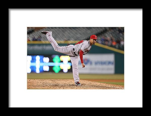 Ninth Inning Framed Print featuring the photograph Ernesto Frieri by Leon Halip