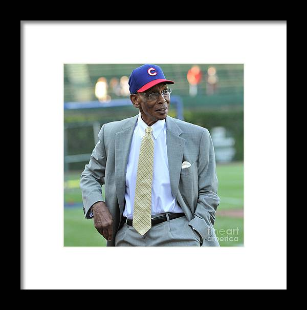 People Framed Print featuring the photograph Ernie Banks by David Banks