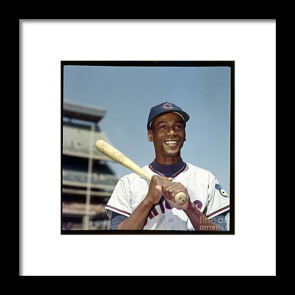 People Framed Print featuring the photograph Ernie Banks by Louis Requena