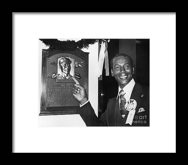 People Framed Print featuring the photograph Ernie Banks by National Baseball Hall Of Fame Library