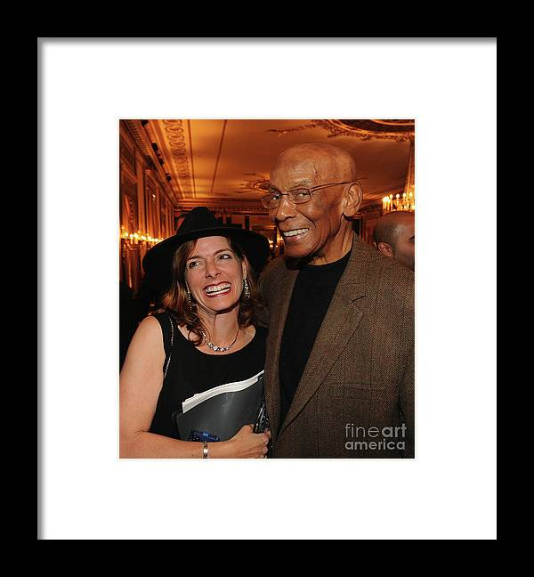 Music Framed Print featuring the photograph Ernie Banks by Rick Diamond