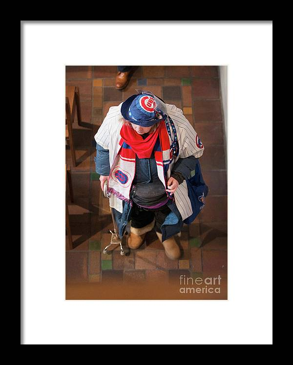People Framed Print featuring the photograph Ernie Banks by Scott Olson