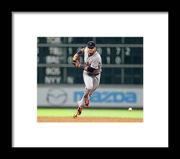American League Baseball Framed Print featuring the photograph Eugenio Suarez by Bob Levey