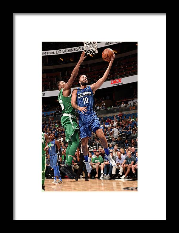 Nba Pro Basketball Framed Print featuring the photograph Evan Fournier by Gary Bassing