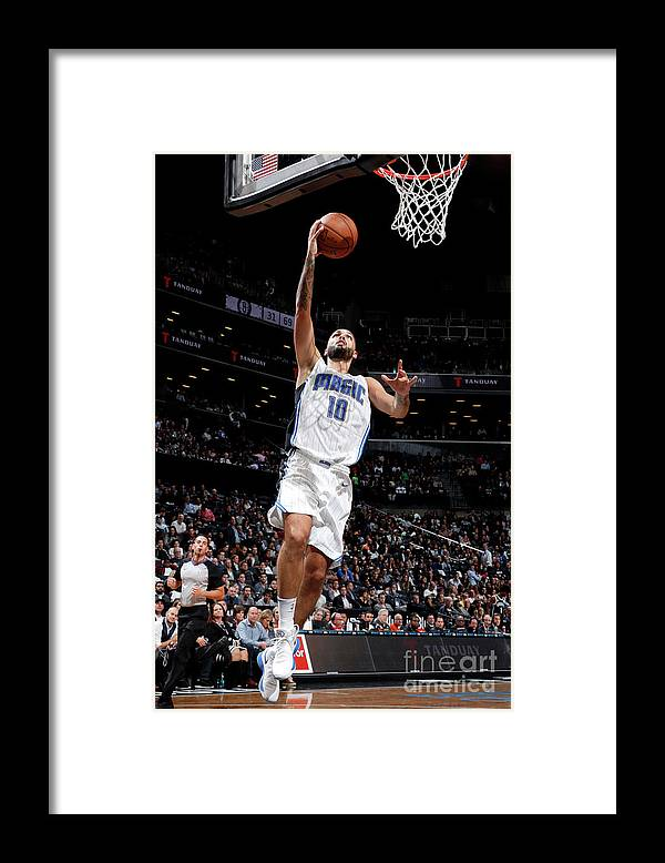 Nba Pro Basketball Framed Print featuring the photograph Evan Fournier by Nathaniel S. Butler