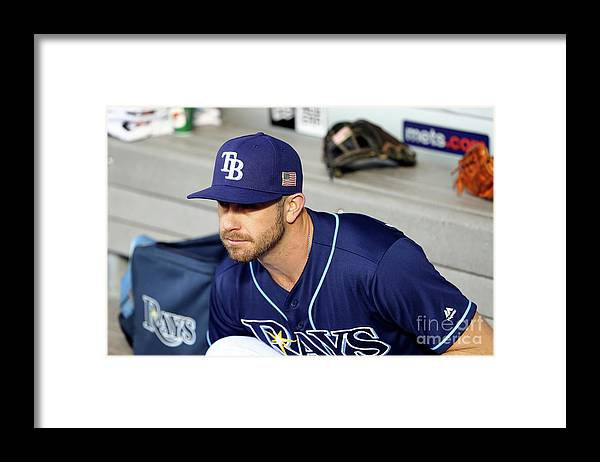 People Framed Print featuring the photograph Evan Longoria by Alex Trautwig