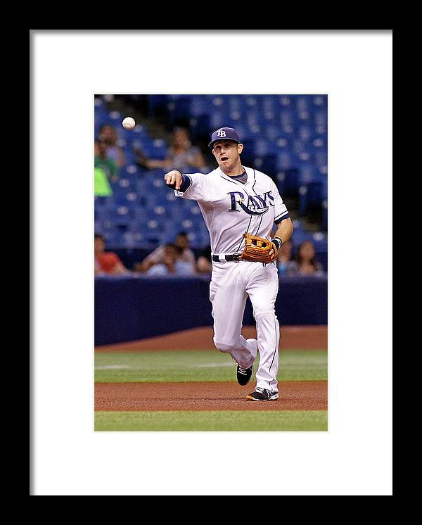 American League Baseball Framed Print featuring the photograph Evan Longoria and Derek Norris by Brian Blanco