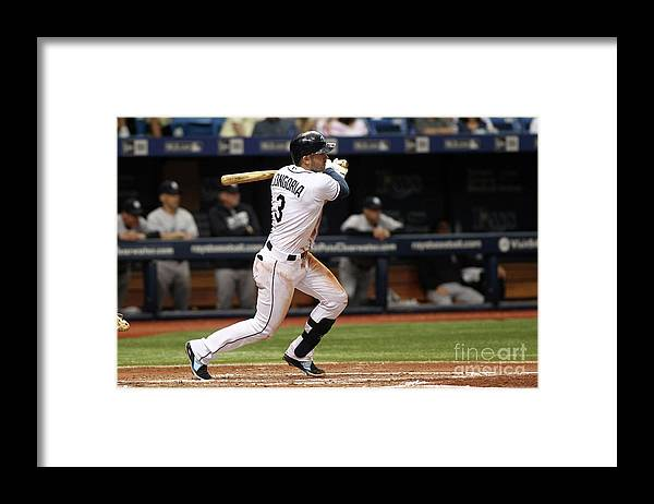 People Framed Print featuring the photograph Evan Longoria and Hank Conger by Brian Blanco