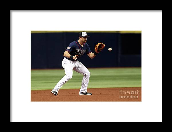 People Framed Print featuring the photograph Evan Longoria and Mike Trout by Brian Blanco