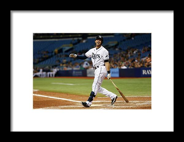 People Framed Print featuring the photograph Evan Longoria by Brian Blanco