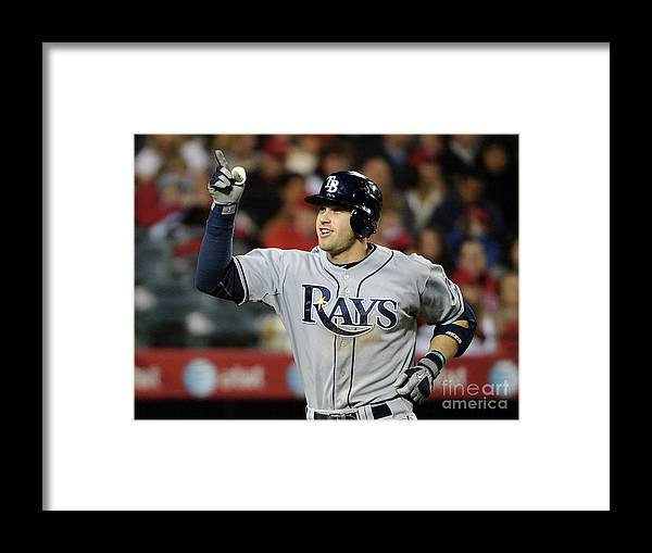 American League Baseball Framed Print featuring the photograph Evan Longoria by Harry How