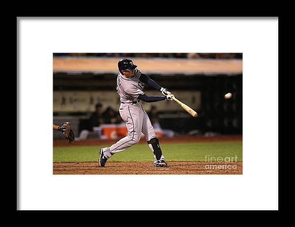 People Framed Print featuring the photograph Evan Longoria by Jed Jacobsohn