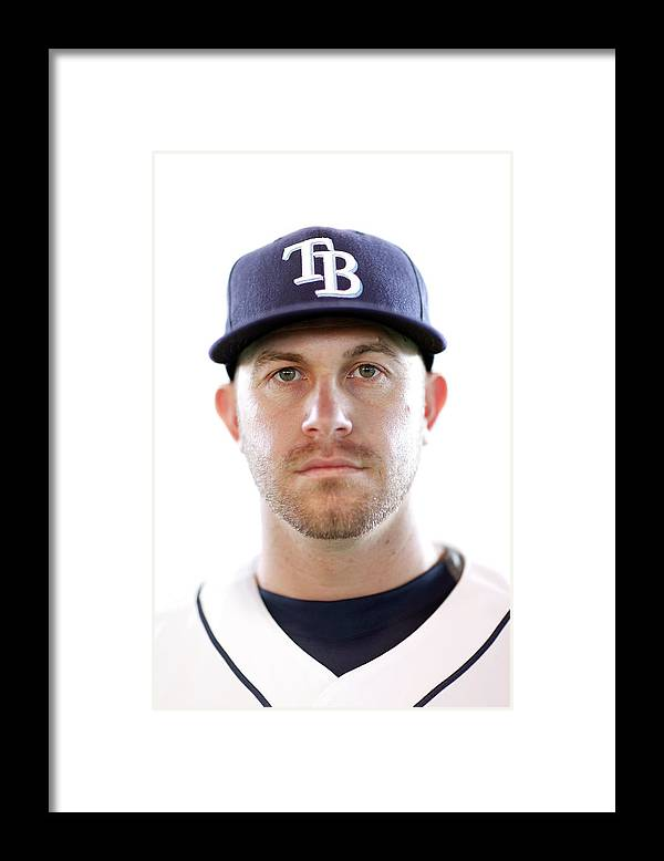 American League Baseball Framed Print featuring the photograph Evan Longoria by Jonathan Ferrey
