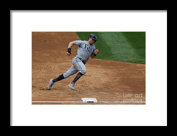 People Framed Print featuring the photograph Evan Longoria by Justin Edmonds