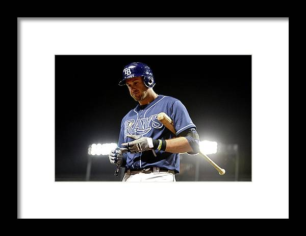 Ninth Inning Framed Print featuring the photograph Evan Longoria by Patrick Smith