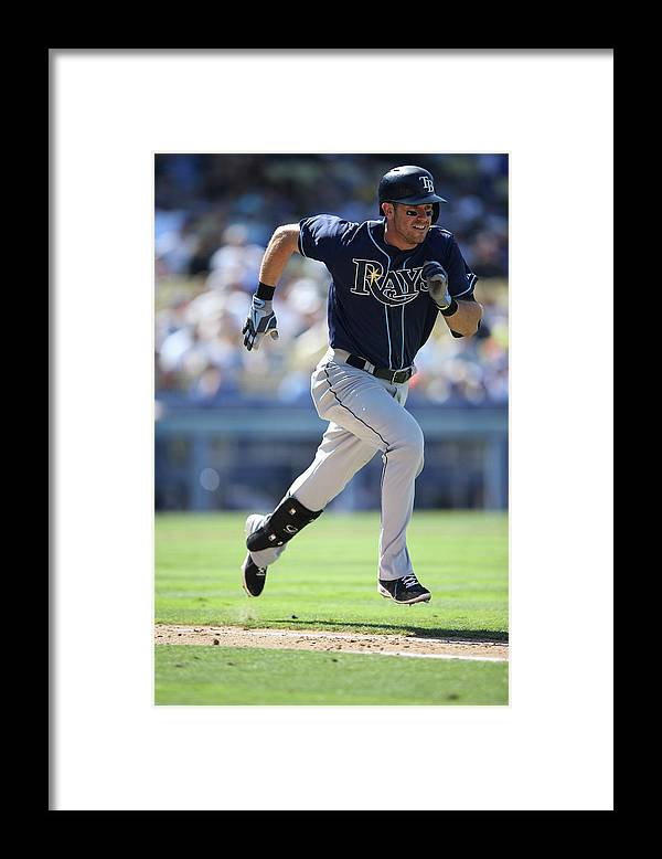 American League Baseball Framed Print featuring the photograph Evan Longoria by Paul Spinelli