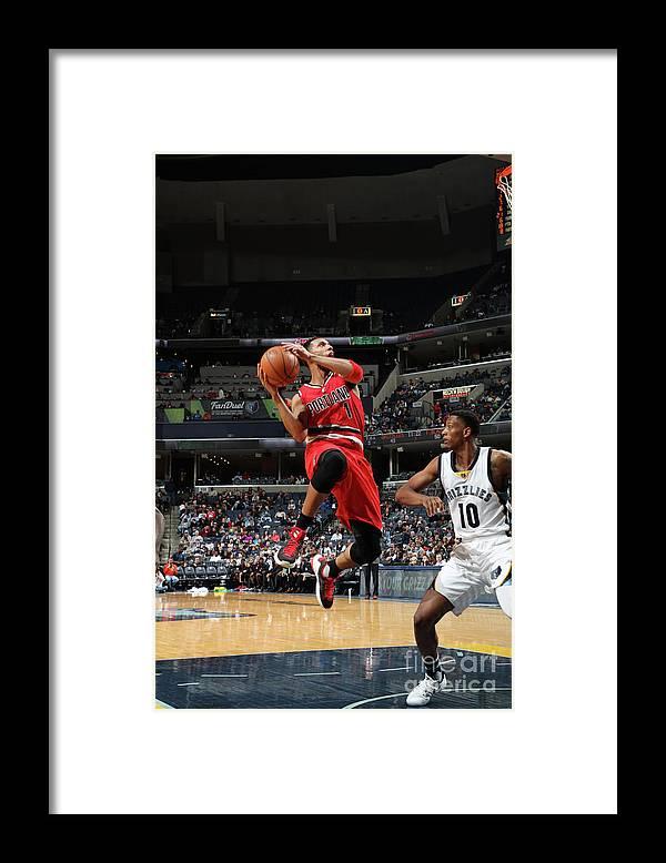 Nba Pro Basketball Framed Print featuring the photograph Evan Turner by Joe Murphy