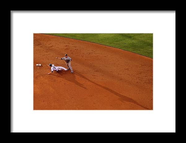Double Play Framed Print featuring the photograph Everth Cabrera and Dj Lemahieu by Justin Edmonds