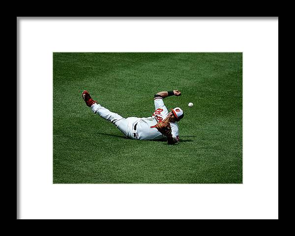 People Framed Print featuring the photograph Everth Cabrera and Gordon Beckham by Rob Carr