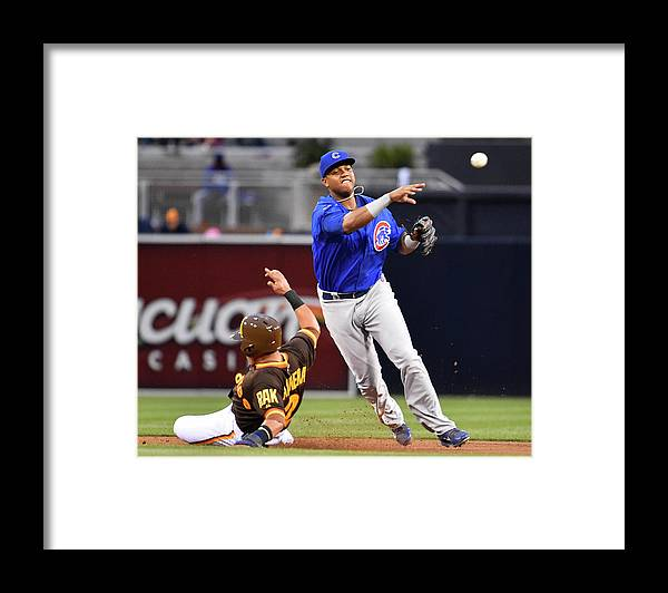 Double Play Framed Print featuring the photograph Everth Cabrera and Starlin Castro by Denis Poroy