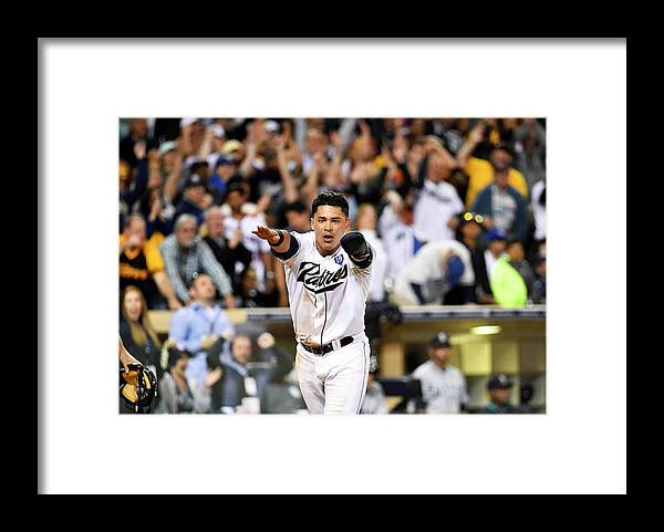 American League Baseball Framed Print featuring the photograph Everth Cabrera by Denis Poroy